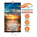 Invroheat - Decorative Wall Hanging Infrared Space Heater/Portable Heater 430W Perfect for Home or Office - Beach Sunset Design