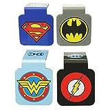"Ata-Boy DC Comics Logos Assortment #1 Set of 4 1"" Magnetic Page-Top Bookmarks"