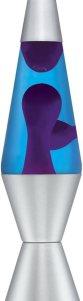 Silver Base Lava lamp with Purple wax in blue Liquid