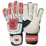 Brine Orca Soccer Goalie Gloves, White, Size 7