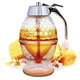Hunnibi Glass Honey Dispenser, Syrup and Sugar Jar