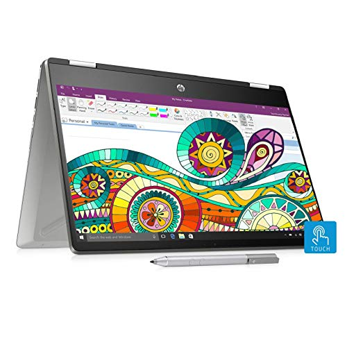 HP Pavilion x360 Core i3 8th Gen 14-inch Touchscreen 2-in-1 Thin and Light Laptop (4GB/256GB SSD/Windows 10/MS Office/Inking Pen/Natural Silver/1.59 kg), 14-dh0107TU 125