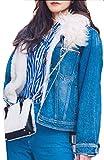 Product review for ouxiuli Women Winter Faux Fur Fleece Denim Jacket Coat