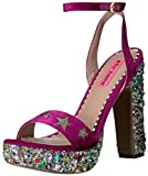Betsey Johnson Women's Kenna Dress Sandal, Magenta Multi, 7.5 M US