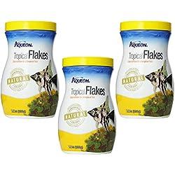 (Pack of 3) Aqueon Tropical Flakes, 7.12 Ounces each