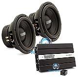 pkg Pair of Sundown Audio E-10 V.3 D4 10' 500W RMS Dual 4-Ohm EV.3 Series Subwoofers with Sundown Audio SAE-1000D v2 Monoblock 1000W RMS Digital Class D Amplifier