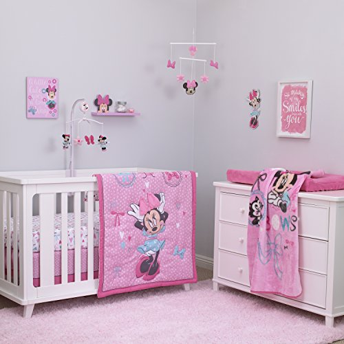 Disney Baby Minnie Mouse All About Bows 4 Piece Crib Bedding