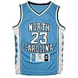 Antsport #23 North Carolina Mens Basketball Jersey Retro Jersey S-XXXL (Blue, S)