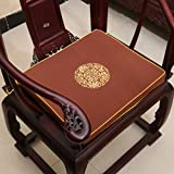 Embroidery Chinese Cushions Thick Cotton Linen Chair Pads Home Decor Sofa Lucky Seat Cushion