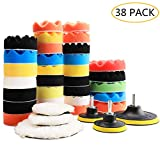 "Benavvy 38pcs Polishing Pad Kit, 2 in 1 Car Foam Drill,7-5"" & 31-3"" Buffing Pads car Care Polisher Waxing Polishing"
