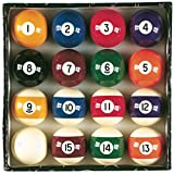Viper Billiard Master 2-1/4' Regulation Size Billiard/Pool Balls, Complete 16 Ball Set