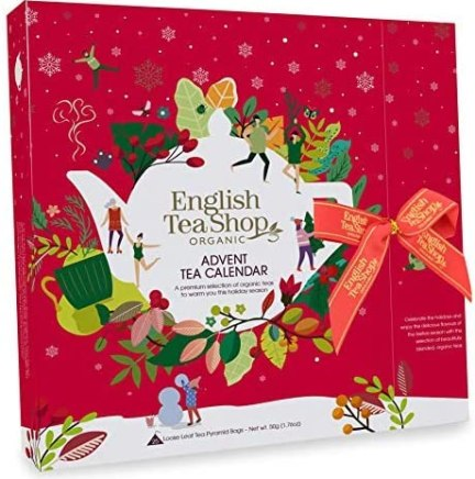 English Tea Shop Calendario dell'Avvento Rosso Tè del Natale in Cofanetto Stile Libro - 1 x 25 Bustine di Tè (50 Grammi)