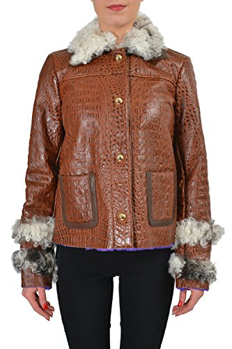 """91PcvgDYDCL Material: 100% Leather Fur Type: Lamb Fur Bust: 18""""  Sleeves: 25"""""""
