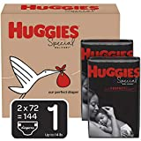 Huggies Special Delivery Hypoallergenic Baby Diapers, Size 1 (8-14 lbs.), 144 Count, Economy Plus Pack