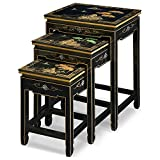 Product review for China Furniture Online Black Lacquer Nesting Table, Hand Painted Chinese Mountain Landscape Set of 3 Table