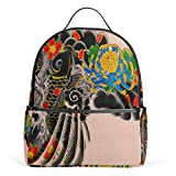 Japanese Tattoo School Backpack For Boys Kids Primary School Bags Child Daypack