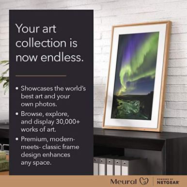 Meural-Canvas-II--The-Smart-Art-Frame-with-215-in-HD-Digital-Canvas-That-Renders-Images-and-Photography-in-Lifelike-Detail-16X24-Black-Frame-WiFi-Connected-Powered-by-NETGEAR-MC321BL