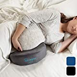 hiccapop Pregnancy Pillow Wedge for Maternity | Memory Foam Maternity Pillows Support Body, Belly, Back, Knees