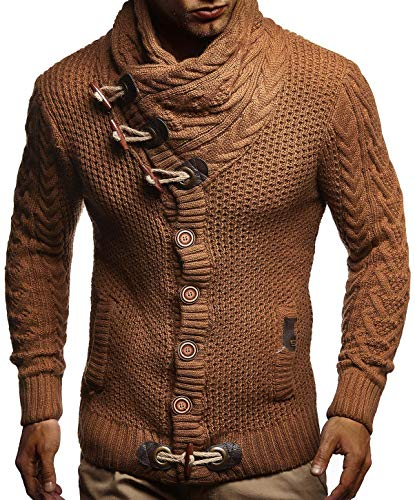 Leif Nelson Men's Knitted Jacket Turtleneck Cardigan Winter Pullover Hoodies Casual Sweaters Jumper LN4195 1 Fashion Online Shop Gifts for her Gifts for him womens full figure