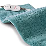 Sunbeam Heating Pad for Pain Relief | XL King Size SoftTouch, 4 Heat Settings with Auto-Off | Teal, 12-Inch x 24-Inch