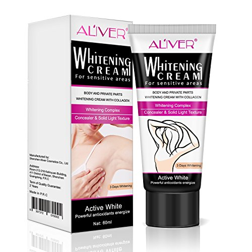Underarm Whitening Cream, Lightening Cream Effective for Lightening & Brightening Armpit, Knees, Elbows, Sensitive & Private Areas, Whitens, Nourishes, Repairs & Restores Skin 60g