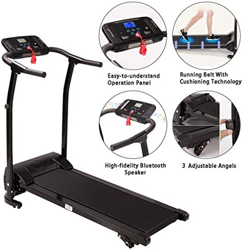 Finelylove Treadmill for Home Gym Running Machine, Multi-Functional LED Display Electric Folding Treadmill 5