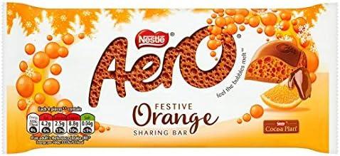 Aero Festive Orange Sharing Bar 100G: Amazon.co.uk: Grocery