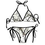 White Realtree Camo Sexy Bikini Swimsuits Womens Bathing Suit Adjustable Swimwear for Women