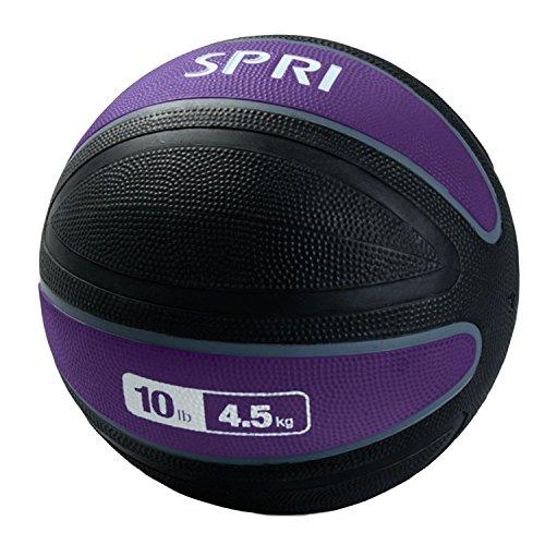 SPRI Xerball Medicine Ball, Purple, 10-Pound