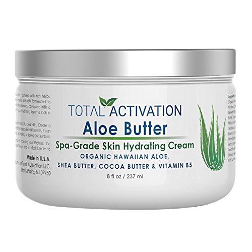 Hawaiian Aloe Vera Moisturizing Skin Cream - Organic Face & Body Moisturizer For Day And Night - Hydrating, Healing Skin Care Butter Lotion For Dry, Sensitive, Aging Skin, Eczema For Men & Women