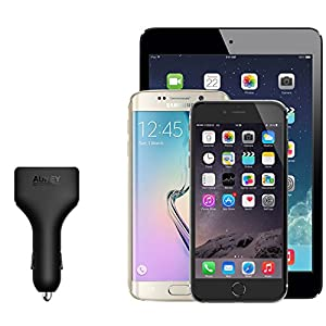 AUKEY Car Charger with 4 USB Ports for iPhone 7 / 6s / Plus, iPad Pro / Air 2 / mini, Samsung Galaxy Note8 / S8 / S8+and More