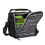Rubbermaid LunchBlox Lunch Bag, Medium, Black Etch