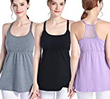 Product review of SUIEK 3PACK Nursing Top Tank Cami Maternity Shirt Sleep Bra for Breastfeeding
