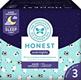 The Honest Company Overnight Sleepy Sheep Diapers, Size 3 | Eco-Friendly Bio-Based Core with Sustainably Harvested and Plant-Derived Materials | Hypoallergenic | 60 Count