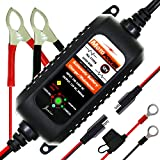 MOTOPOWER MP00205A 12V 800mA Fully Automatic Battery Charger/Maintainer - Rescue and Recover Batteries
