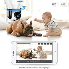 TAOCOCO-Dog-Pet-Camera-Cat-WiFi-IP-Camera-Wireless-Surveillance-Security-Camera-Home-Baby-Monitor-Nanny-Cam-with-Smart-PanTiltZoom-Motion-Detection-Two-Way-Talking-Infrared-Night-Vision