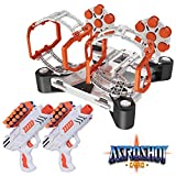 USA Toyz Compatible Nerf Targets for Shooting - AstroShot Gyro Nerf Target Game, 2 Blaster Toy Guns for Boys or Girls and 24 Foam Dart Nerf Accessories