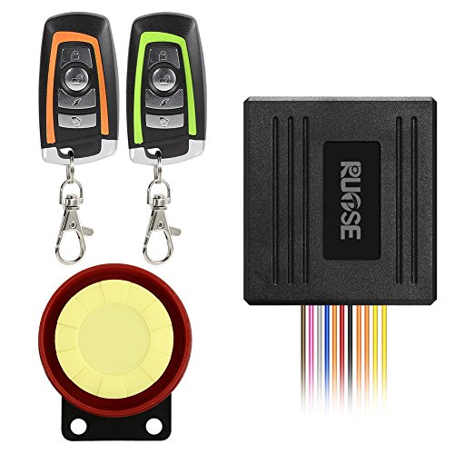 RUPSE Waterproof Motorcycle Bike Anti-Theft Security Burglar Alarm System Remote Control Horn Alarm Warner Bi-Color