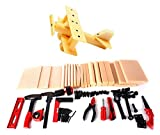 Liberty Imports DIY Deluxe Wood Kids Workshop Kit with Tools