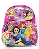 Princess Small Backpack - Disney Cinderella Belle Aurora Rapunzel 12' 121471-2