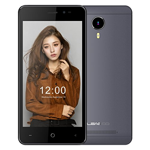 LEAGOO Z5 Lte 5.0 inch Android 5.1 RAM 1GB+ROM 8GB MTK6735WM Cortex A7 Quad Core 1.0GHz 4G Smart Phone (Gray)