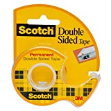 Scotch Brand Removable Double Sided Tape with Dispenser, Standard Width, No Mess, Long-Lasting,...