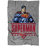 """UTAMUGS Cool Superman Symbol Blanket for Bed and Couch, Superman Kryptonite Never More Blankets - Perfect for Layering Any Bed (Large Blanket (80""""x60""""))"""