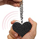 Guard Dog Security Heartbeat Keychain Alarm for Women, 130dB Siren, Personal Defense Alarm (Black)