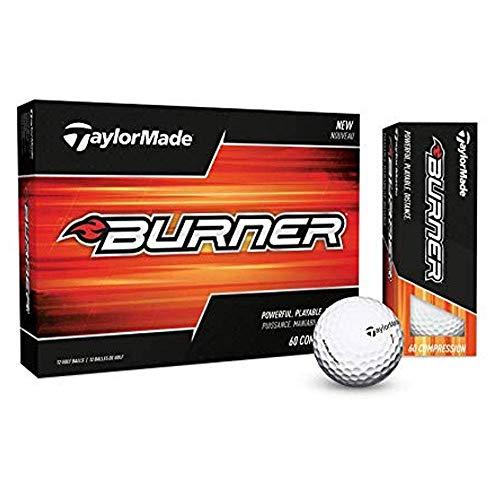 TaylorMade 2017 Burner Golf Balls, White (One Dozen)