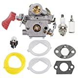 HONEYRAIN C1M-W44 Carburetor Kit for Poulan PP338PT PP333 PP133 Pro Gas Trimmer 33cc Carb Replace 545189502 545008042 with Fuel Filter Spark Plug