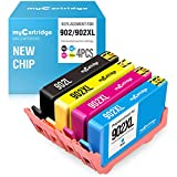 myCartridge Remanufactured Ink Cartridge Replacement for HP 902 Upgraded Newest Chips (Black Cyan Magenta Yellow, 4-Pack) OfficeJet Pro 6968 6978 6958 6970 6960 6954 6962 Printer