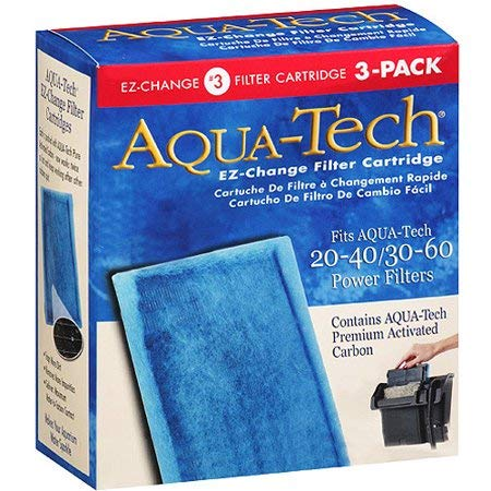 Aqua-Tech EZ-Change #3 Activated Carbon Filter Cartridges for 20-40 / 30-60 Gallon Aquarium Power Filters, 3 Pack