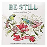 'Be Still' Inspirational Adult Coloring Therapy Featuring Psalms