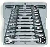 GearWrench 9412 12 Piece Metric Ratcheting Wrench Set